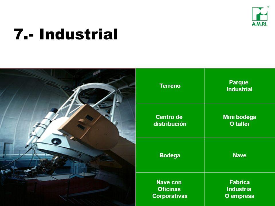 7.- Industrial Terreno Parque Industrial Centro de distribución Mini bodega O taller Nave con Oficinas Corporativas Fabrica Industria O empresa NaveBo