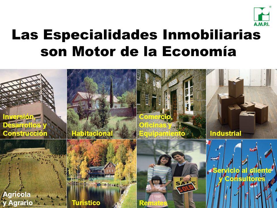Las Especialidades Inmobiliarias son Motor de la Economía Industrial Servicio al cliente y Consultores Habitacional Inversión, Desarrollos y Construcc