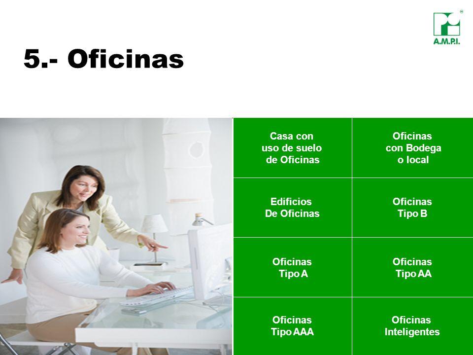 5.- Oficinas Casa con uso de suelo de Oficinas Oficinas con Bodega o local Edificios De Oficinas Oficinas Tipo B Oficinas Tipo AAA Oficinas Inteligent