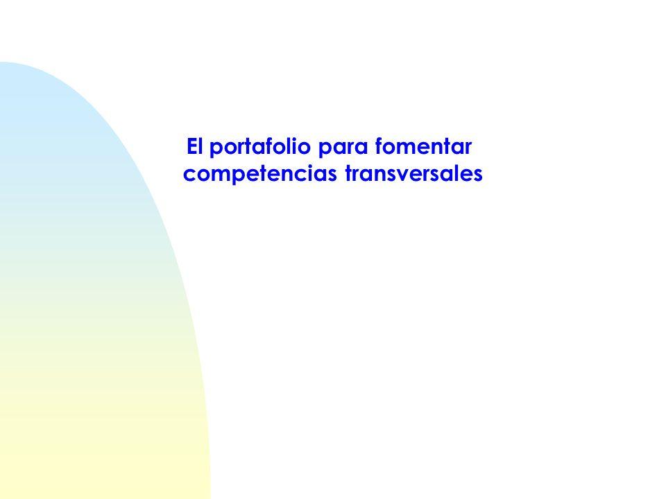 El portafolio para fomentar competencias transversales