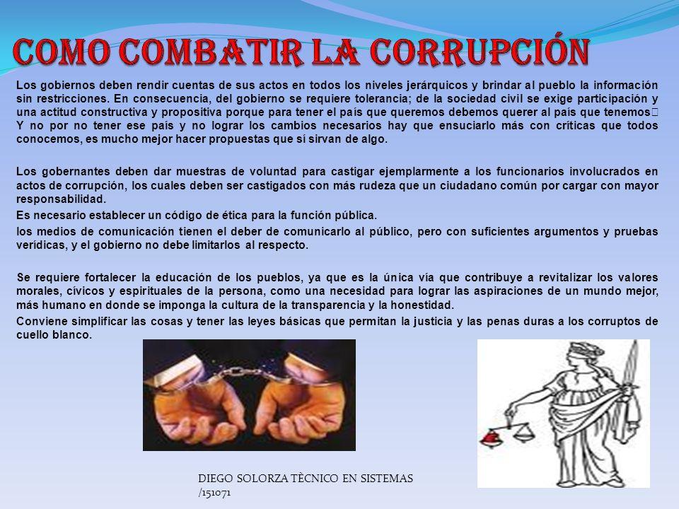 Corrupción: Cuando los recursos destinados a servicios y prestaciones comunitarias se desvían al bolsillo privado de alguien que está en una situación