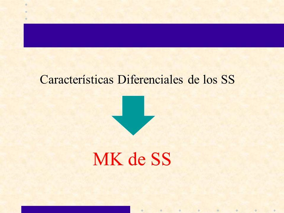 Características Diferenciales de los SS MK de SS