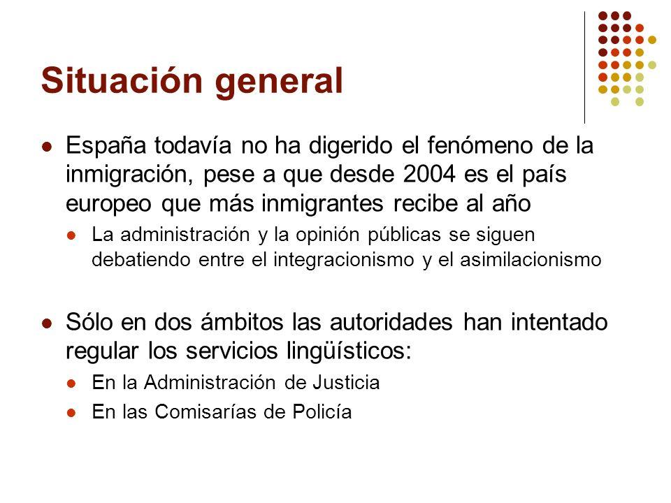 Situación general España todavía no ha digerido el fenómeno de la inmigración, pese a que desde 2004 es el país europeo que más inmigrantes recibe al