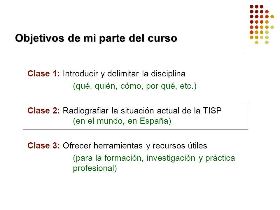 La situación de la TISSPP en el mundo