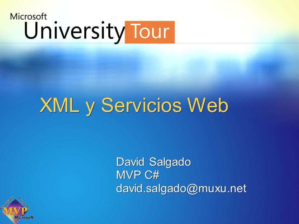 David Salgado MVP C# david.salgado@muxu.net David Salgado MVP C# david.salgado@muxu.net XML y Servicios Web