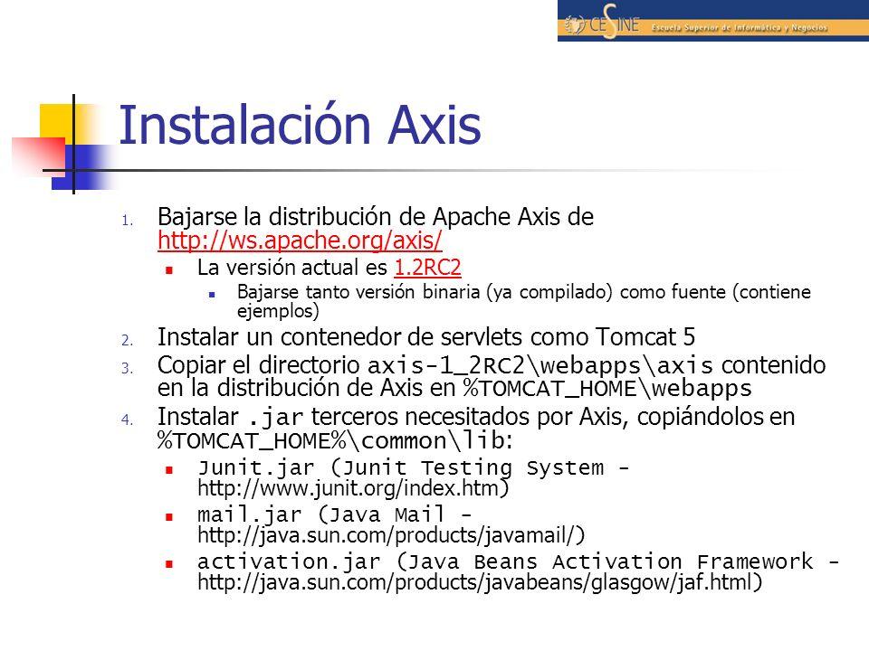 Instalación Axis 1.