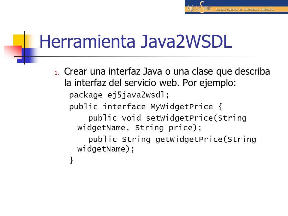 Herramienta Java2WSDL 1.