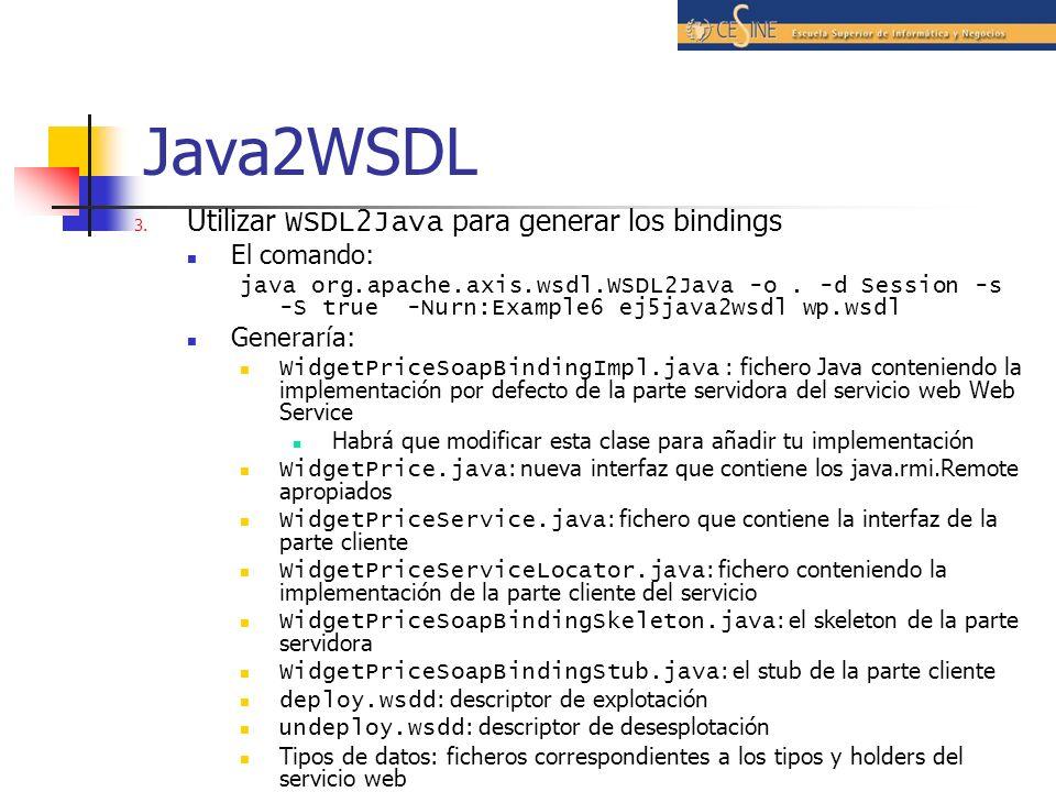 Java2WSDL 3.