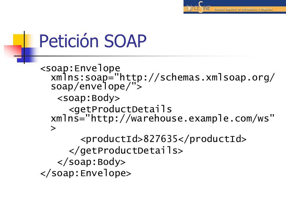 Petición SOAP 827635