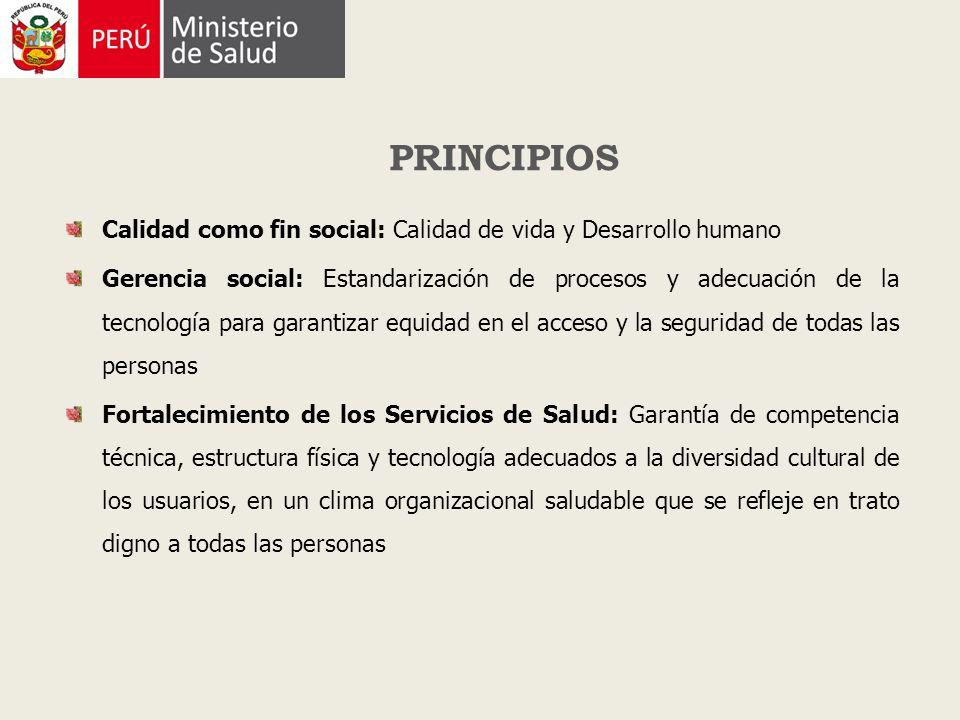 Calidad como fin social: Calidad de vida y Desarrollo humano Gerencia social: Estandarización de procesos y adecuación de la tecnología para garantiza