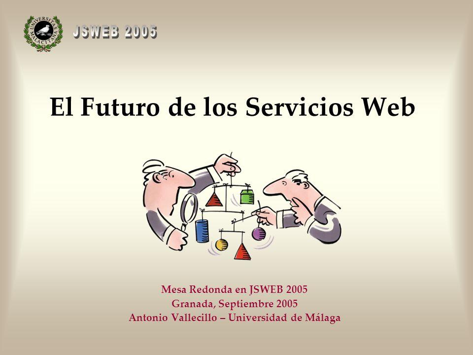 El Futuro de los Servicios Web Mesa Redonda en JSWEB 2005 Granada, Septiembre 2005 Antonio Vallecillo – Universidad de Málaga