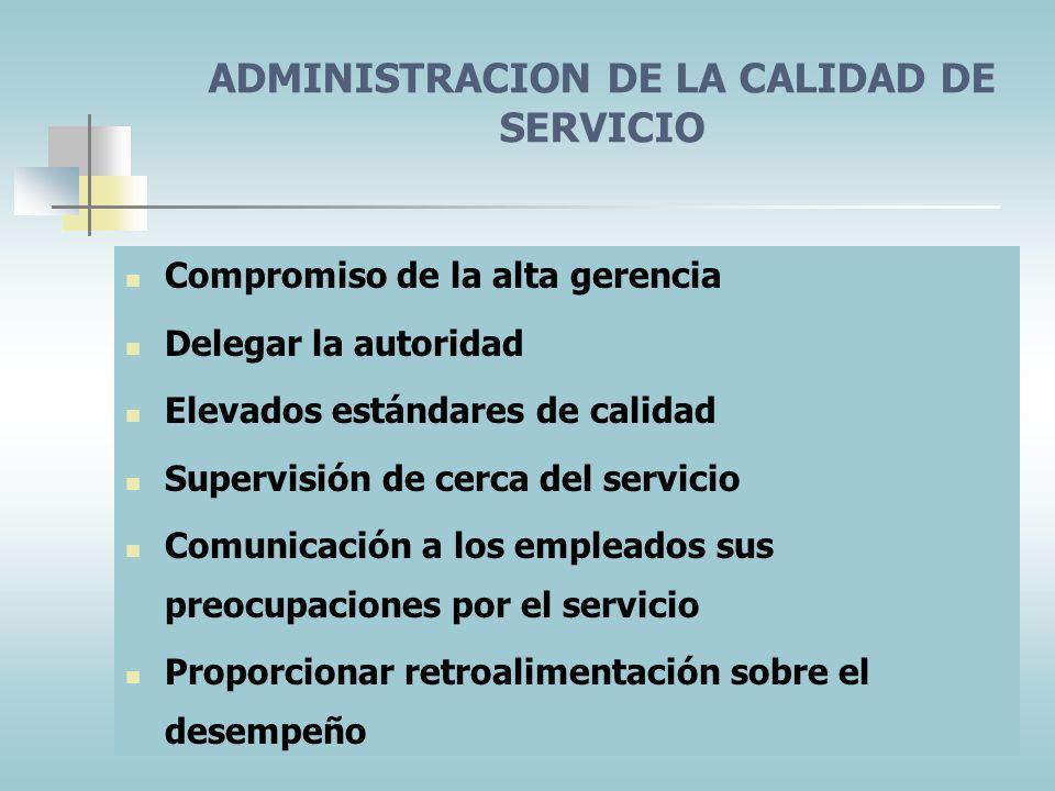 LA CADENA DE UTILIDADES DEL SERVICIO Calidad del servicio interno, una selección y capacitación superiores de los empleados, un ambiente de trabajo de