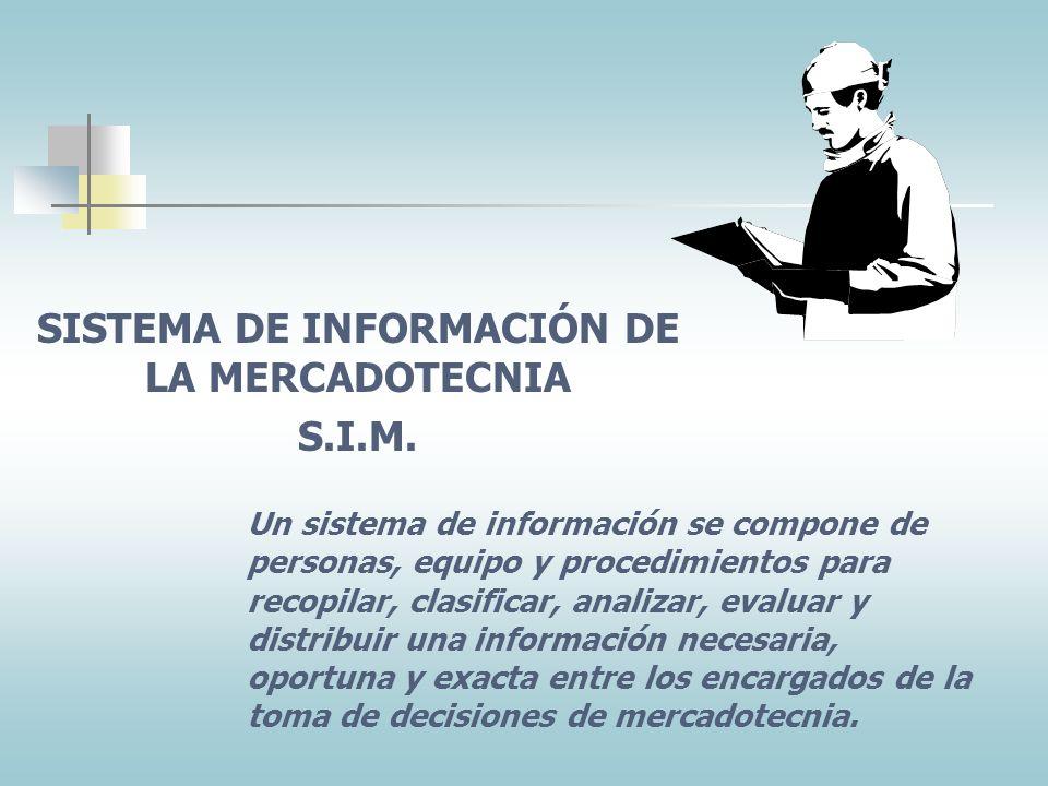TEMA CINCO: SISTEMAS DE INFORMACIÓN DE LA MERCADOTECNICA DE UN SERVICIO DE SALUD
