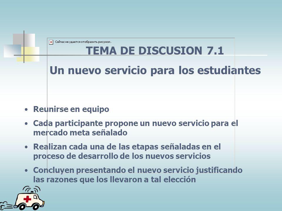 PROCESO DEL DESARROLLO DEL DISEÑO DEL SERVICIO Selección de una idea (filtrado) Generación de la idea de diseño Prueba del mercado Estrategia de marke