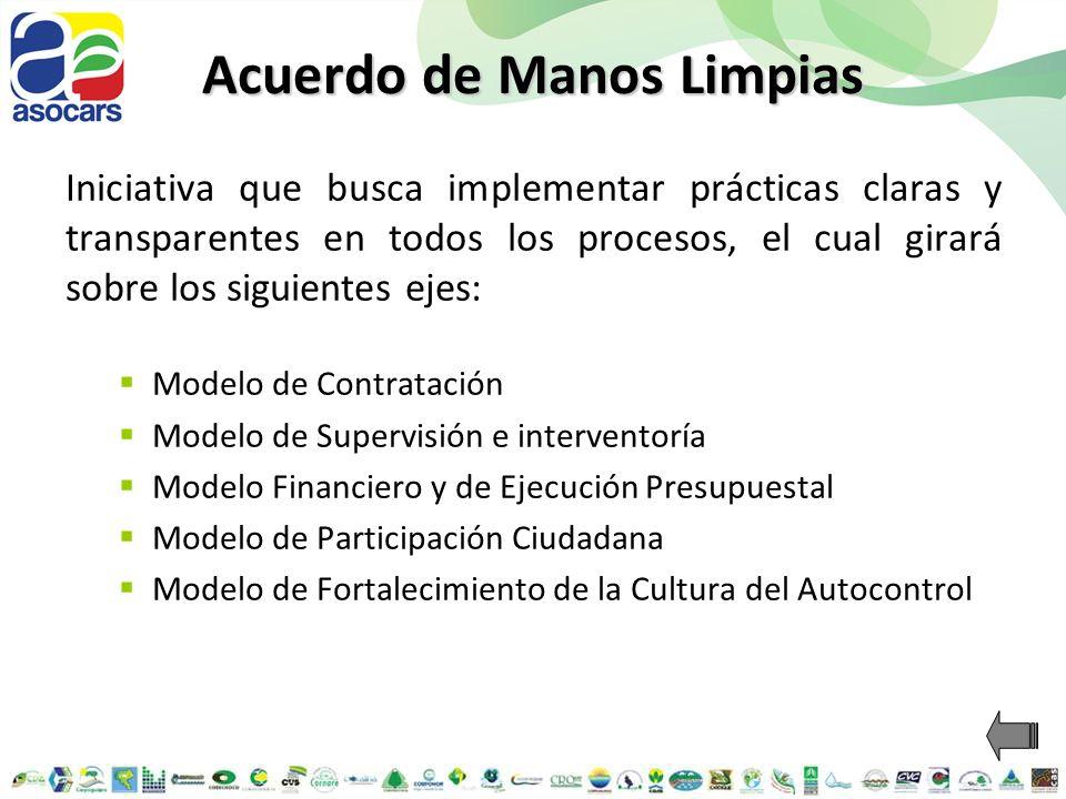 Acuerdo de Manos Limpias Iniciativa que busca implementar prácticas claras y transparentes en todos los procesos, el cual girará sobre los siguientes