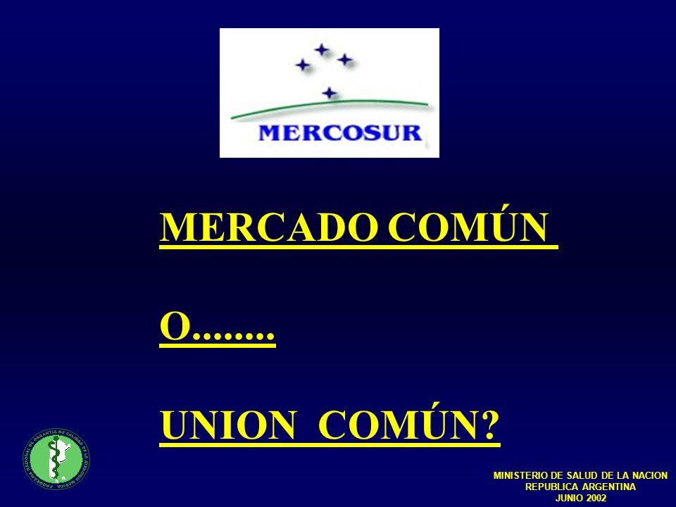 MERCADO COMÚN O........UNION COMÚN.