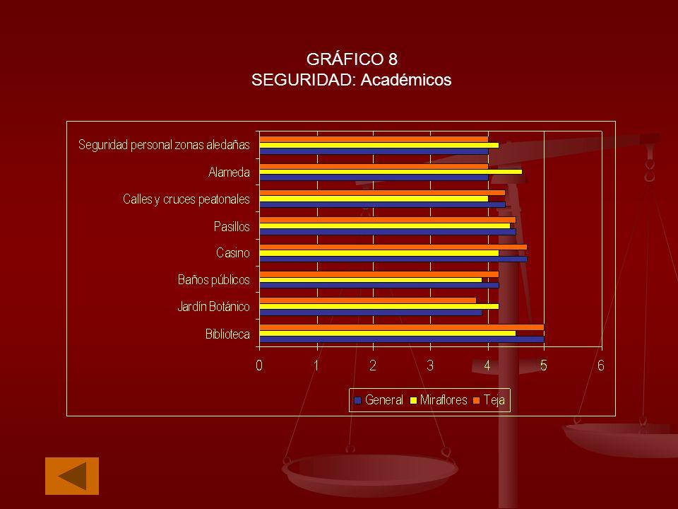 GRÁFICO 8 SEGURIDAD: Académicos