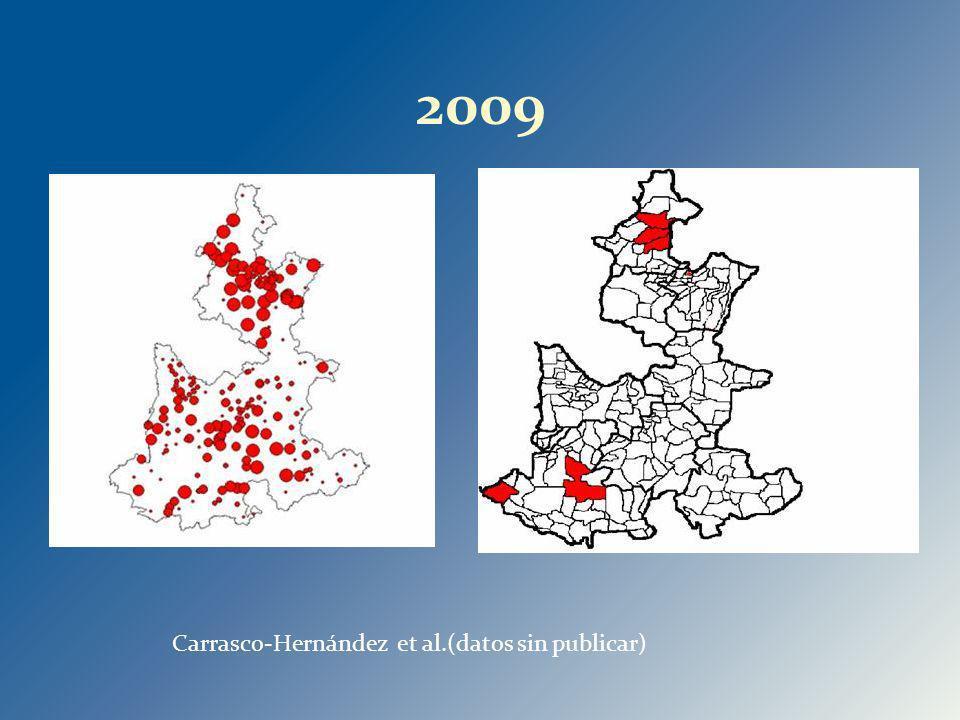 2009 Carrasco-Hernández et al.(datos sin publicar)