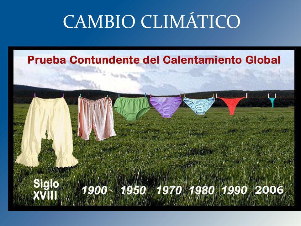 Últimas dos décadas las más cálidas de los últimos 10,000 años; cuatro de los últimos 7 años los más calientes en los registros históricos. Prediccion