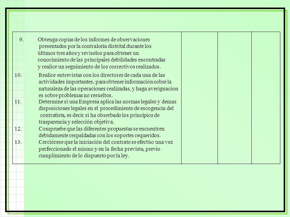 11.Determine si una Empresa aplica las normas legales y demas disposiciones legales en el procedimiento de escogencia del contratista, es decir si ha
