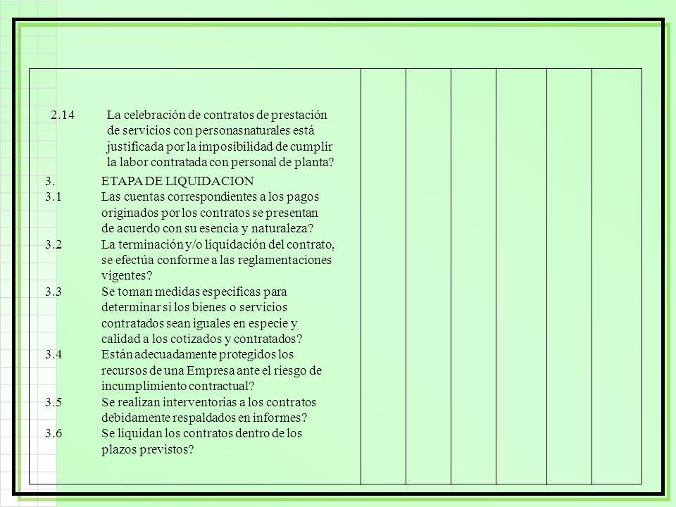 2.14La celebración de contratos de prestación de servicios con personasnaturales está justificada por la imposibilidad de cumplir la labor contratada