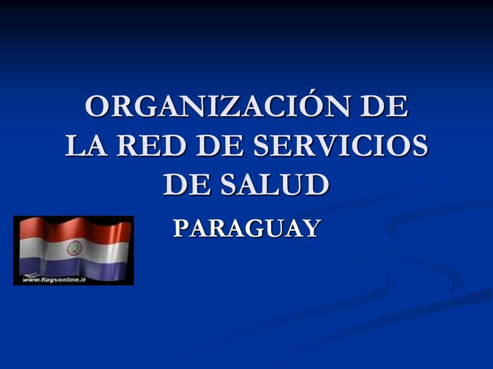 ORGANIZACIÓN DE LA RED DE SERVICIOS DE SALUD PARAGUAY