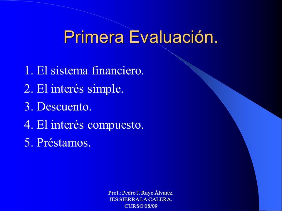 Prof.: Pedro J. Rayo Álvarez. IES SIERRA LA CALERA. CURSO 08/09 OPERACIONES DE SEGUROS. La actividad aseguradora. Los productos de seguro.