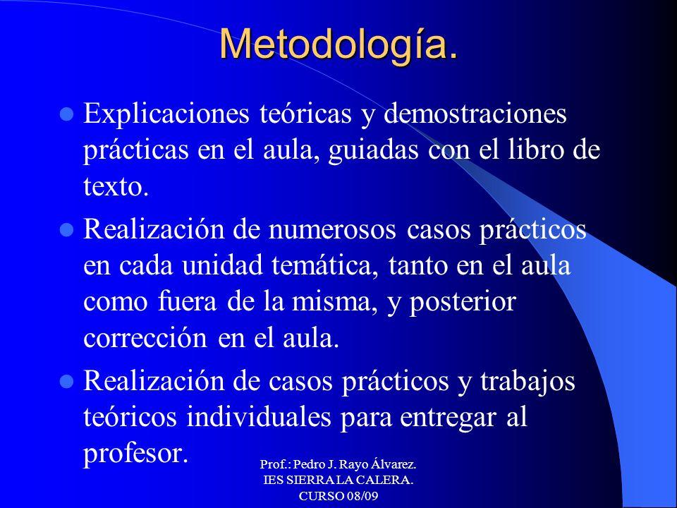 Prof.: Pedro J. Rayo Álvarez. IES SIERRA LA CALERA. CURSO 08/09 Tercera Evaluación. 1. El Mercado de Valores. La Bolsa de Comercio. 2. Operaciones bur