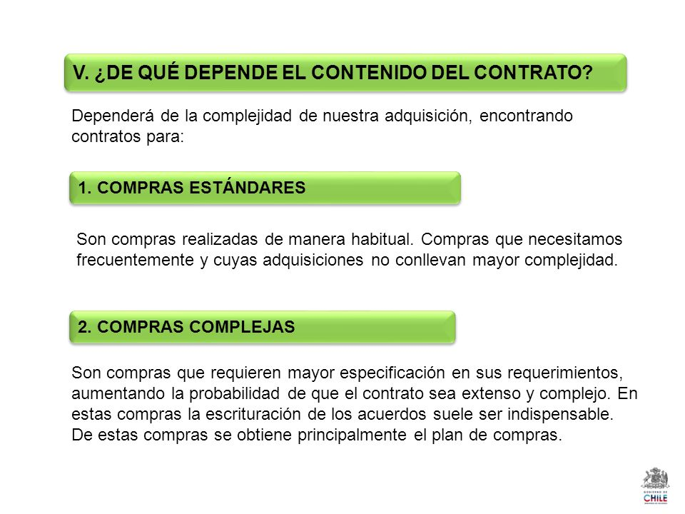 Dependerá de la complejidad de nuestra adquisición, encontrando contratos para: Son compras realizadas de manera habitual. Compras que necesitamos fre