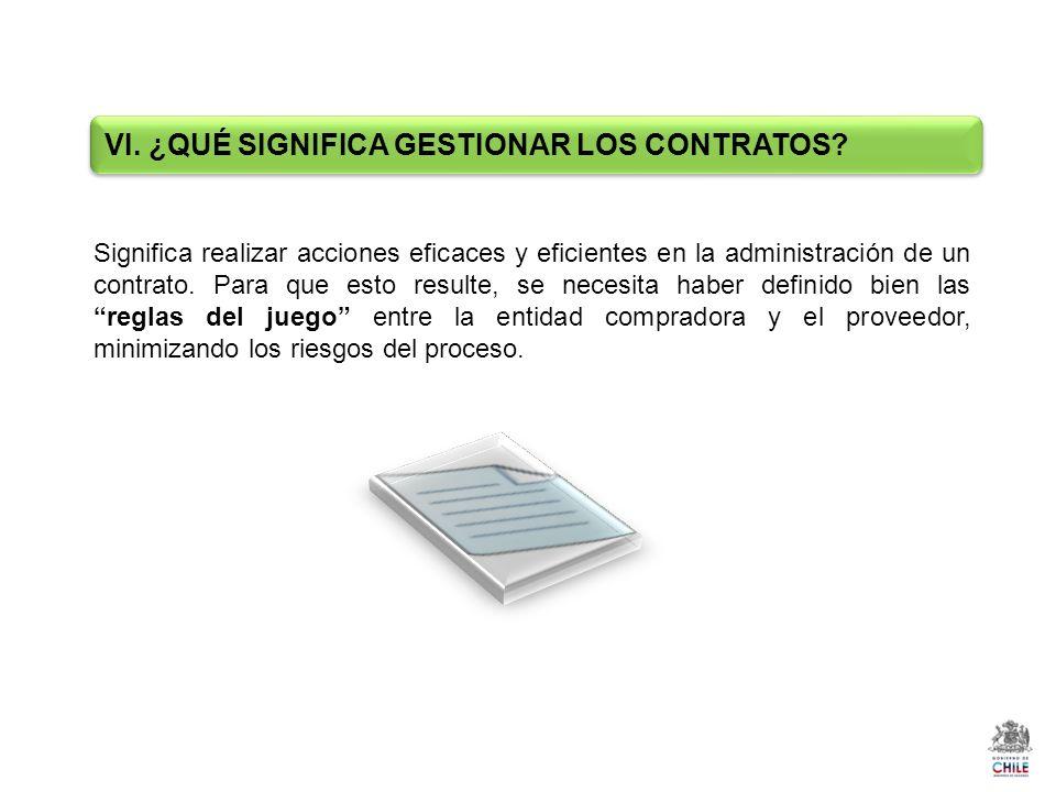 Significa realizar acciones eficaces y eficientes en la administración de un contrato.