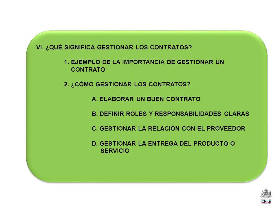 VI.¿QUÉ SIGNIFICA GESTIONAR LOS CONTRATOS. 1.