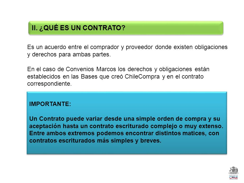 Es un acuerdo entre el comprador y proveedor donde existen obligaciones y derechos para ambas partes.