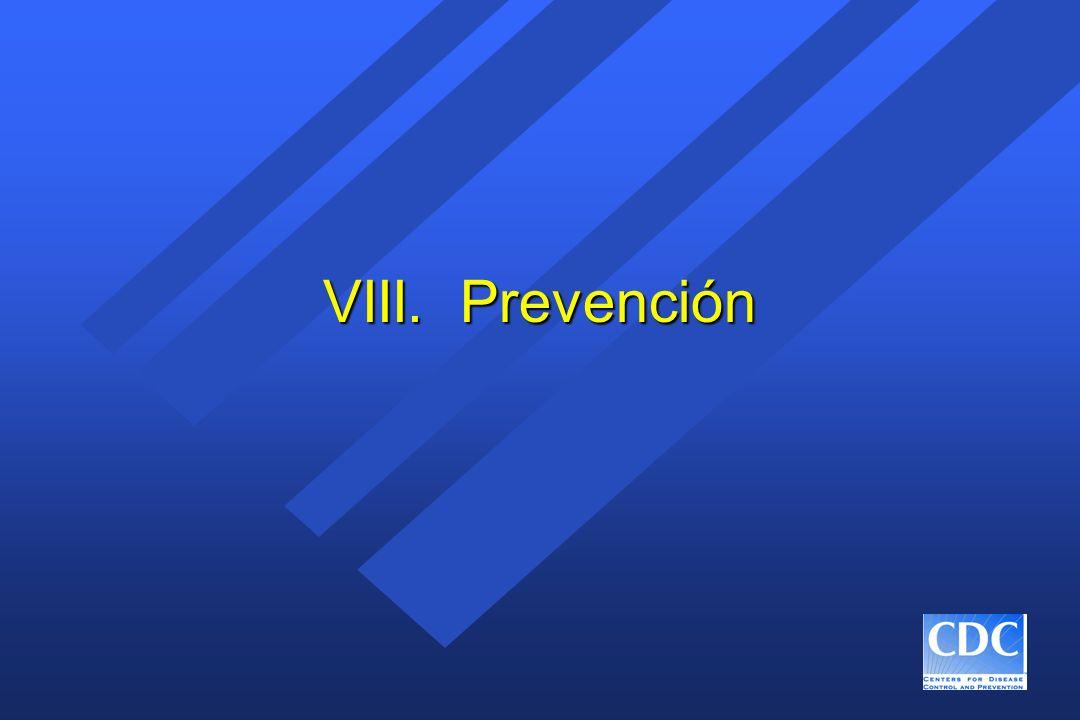 VIII. Prevención