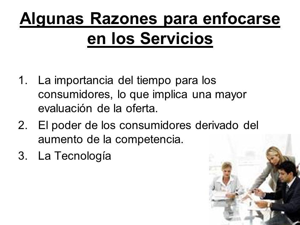 ¿Cuáles son los criterios sobre los que los usuarios se basan para determinar la calidad de un servicio.