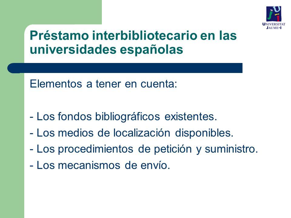 Elementos a tener en cuenta: - Los fondos bibliográficos existentes.