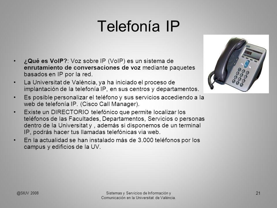 Telefonía IP ¿Qué es VoIP?: Voz sobre IP (VoIP) es un sistema de enrutamiento de conversaciones de voz mediante paquetes basados en IP por la red. La