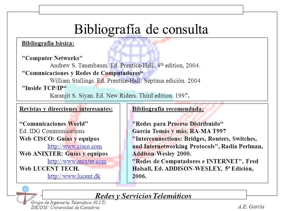 Grupo de Ingeniería Telemática (G.I.T) DICOM / Universidad de Cantabria Redes y Servicios Telemáticos A.E. García Métodología Clases Teóricas Seminari