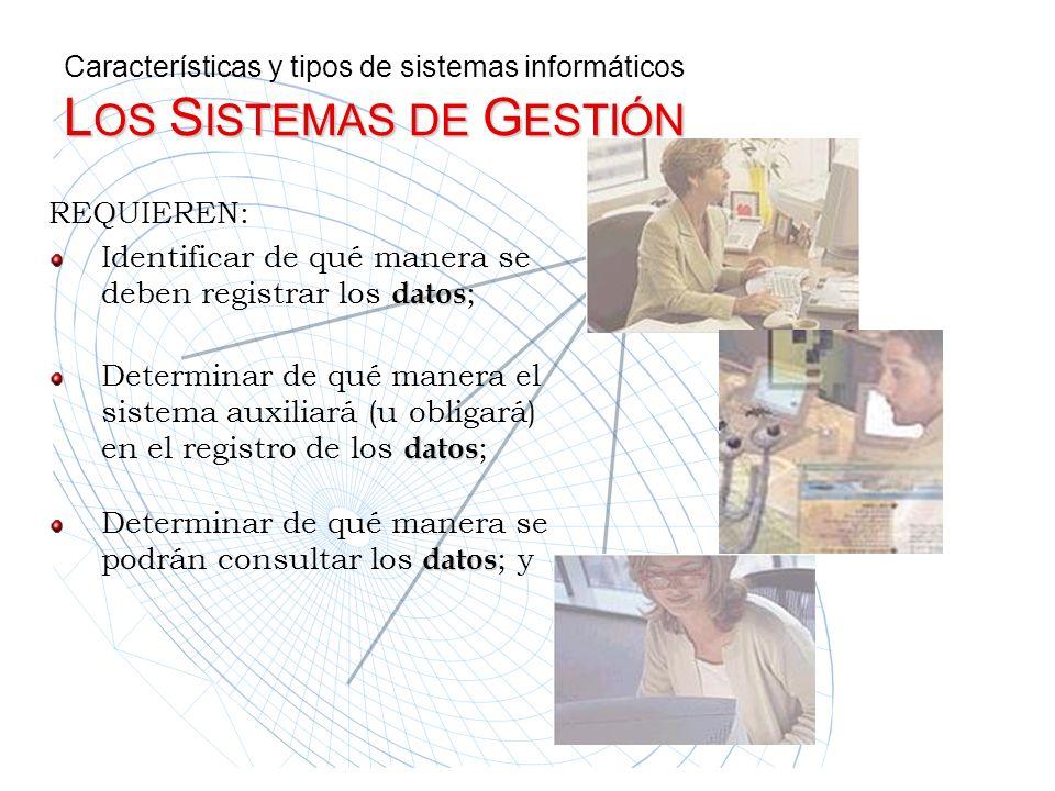 REQUIEREN: Identificar de qué manera se deben registrar los d dd datos ; Determinar de qué manera el sistema auxiliará (u obligará) en el registro de