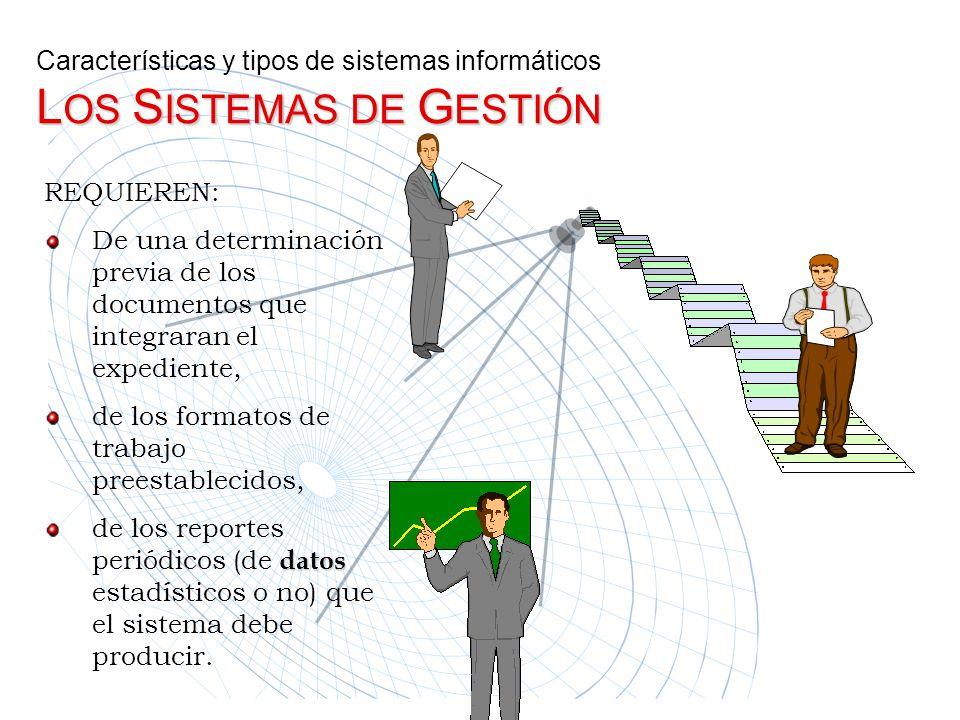 REQUIEREN: De una determinación previa de los documentos que integraran el expediente, de los formatos de trabajo preestablecidos, de los reportes per