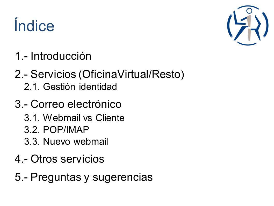 Recursos disponibles Servicio de correo.