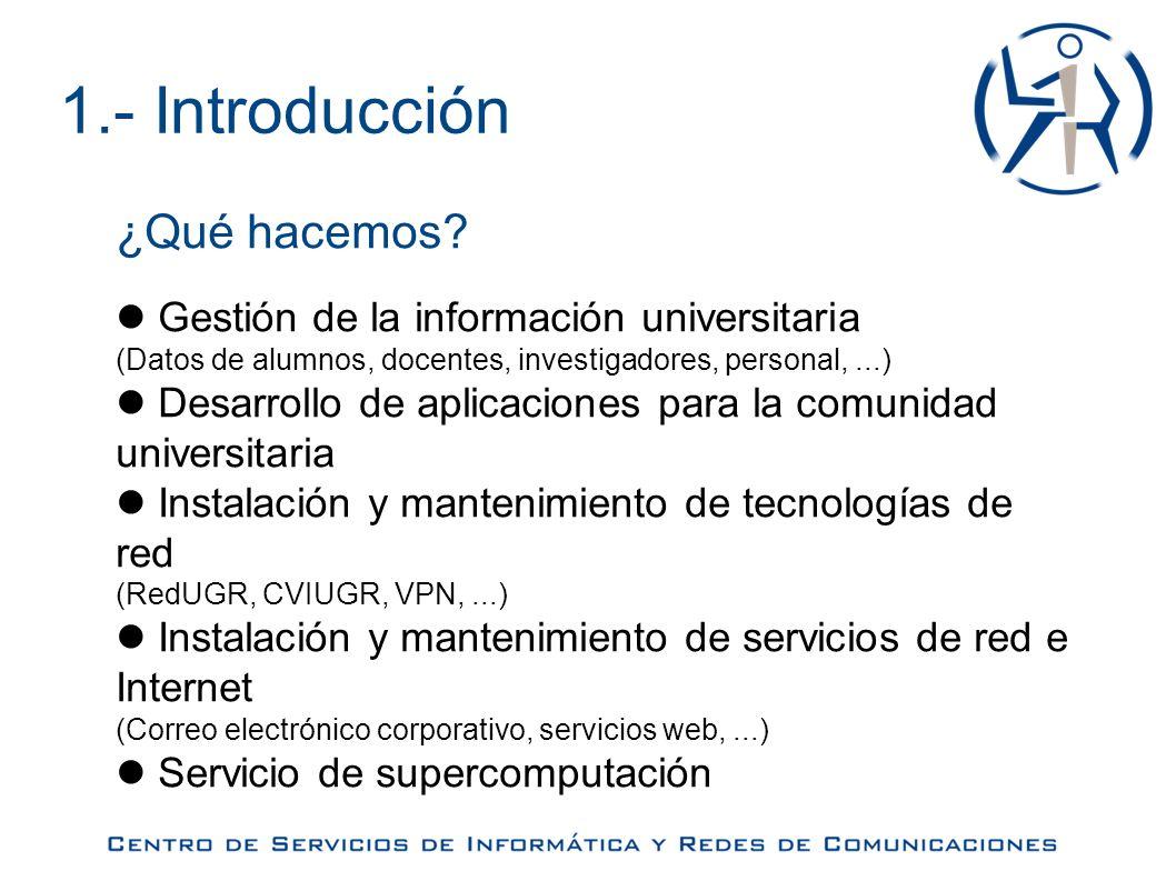 4.- Otros servicios Supercomputación ¿Quién lo utiliza y para qué.