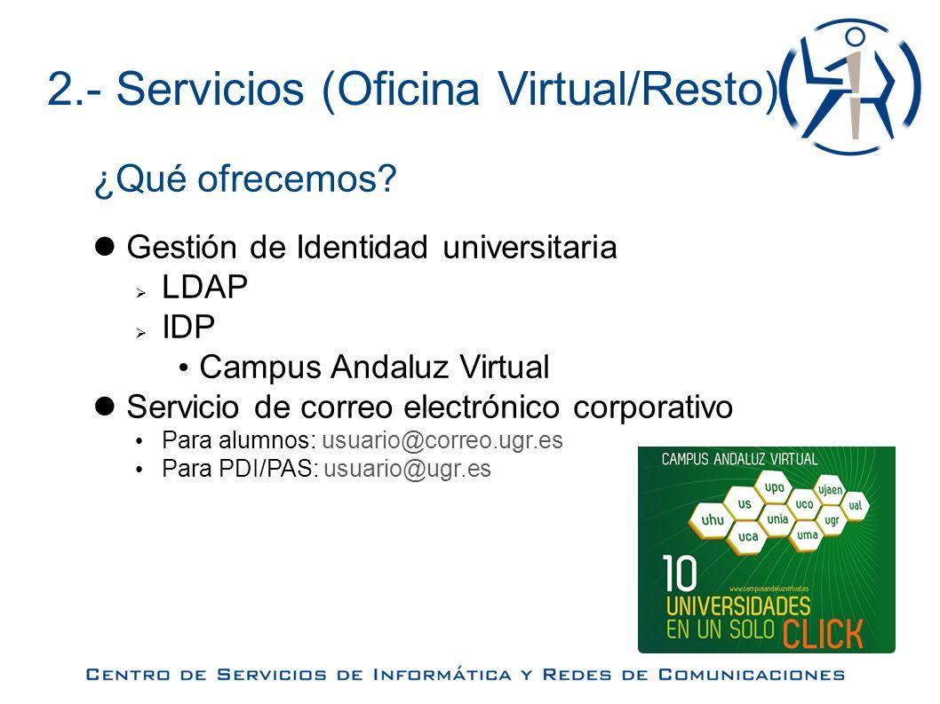 5.- Preguntas y sugerencias Más información: http://csirc.ugr.es Contacto: csirc@ugr.es Dudas/sugerencias seminarios: soporteseminarios@ugr.es