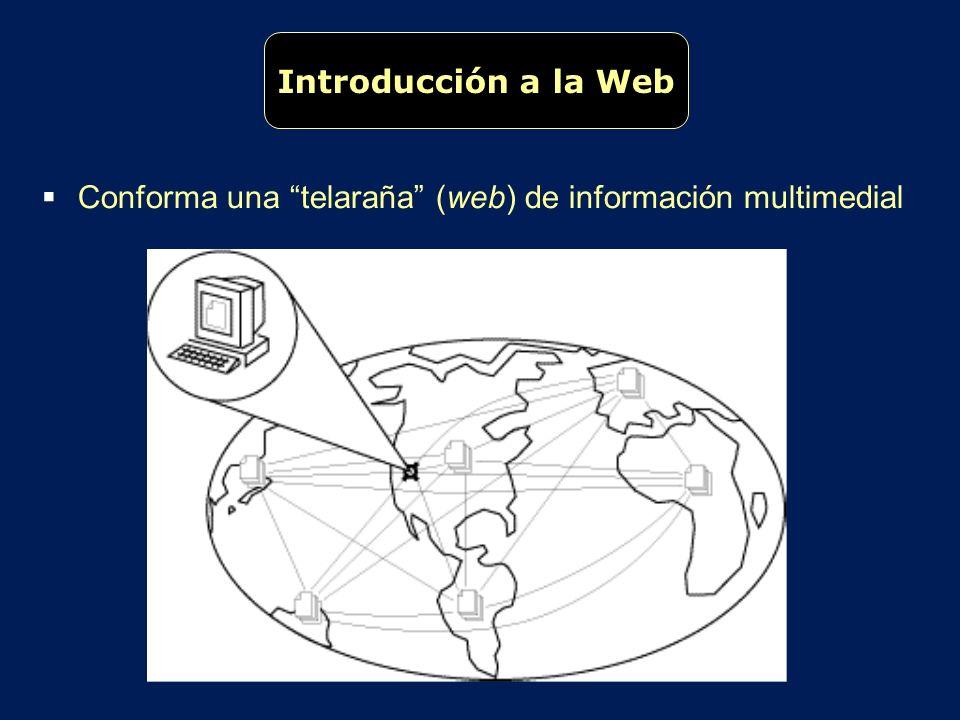 Conforma una telaraña (web) de información multimedial Introducción a la Web