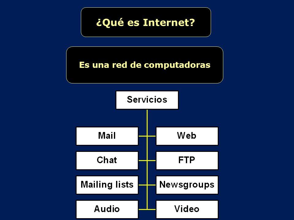 ¿Qué es Internet? Es una red de computadoras