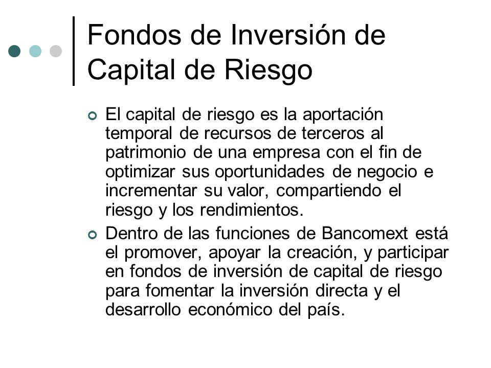 Fondos de Inversión de Capital de Riesgo El capital de riesgo es la aportación temporal de recursos de terceros al patrimonio de una empresa con el fi
