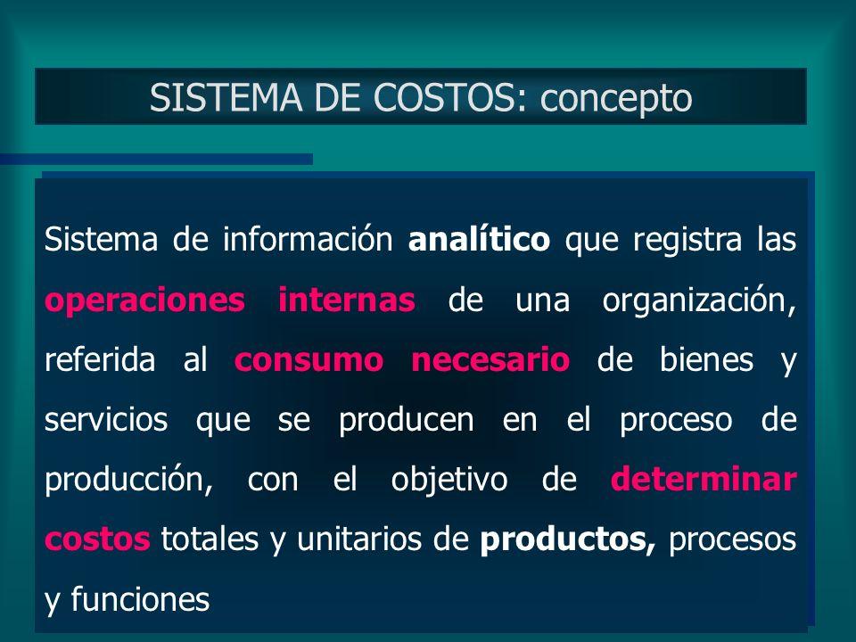 DEFINICION DEL PRODUCTO De acuerdo con la definición del producto final Construcción del Sistema Clasificación de los Costos
