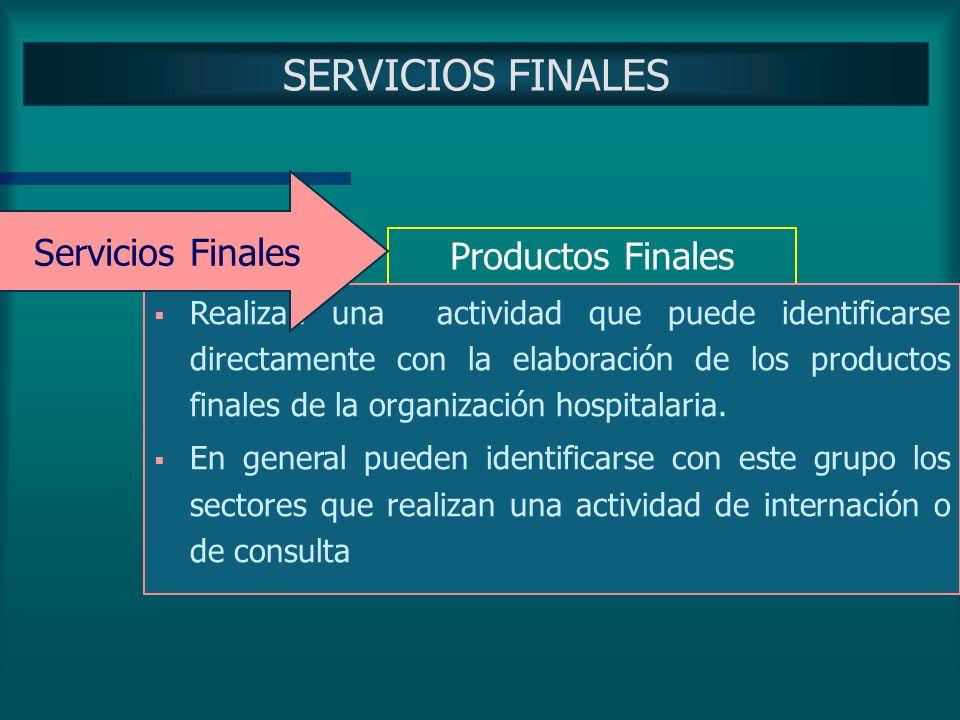 SERVICIOS INTERMEDIOS Productos Intermedios Están identificados con la elaboración de un producto o servicio intermedio Prestan servicios únicamente a