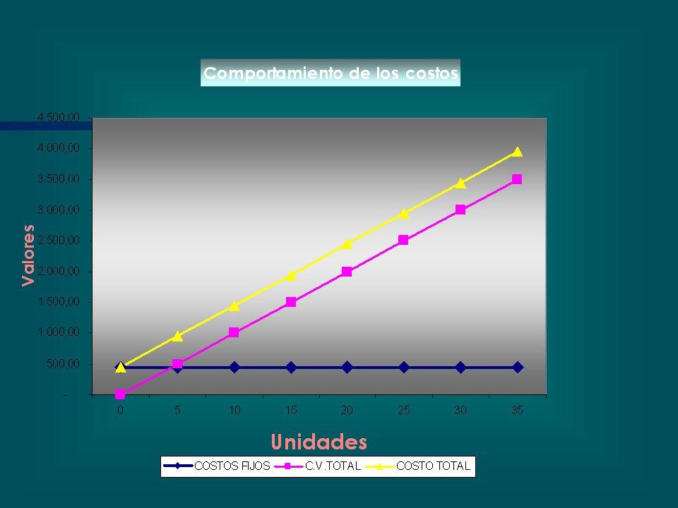 CLASIFICACION DE COSTOS De acuerdo a su fluctuación con la Producción. Costos FijosCostos Variables Ej.: Personal,etc. Ej.: Drogas, Descartables, etc.