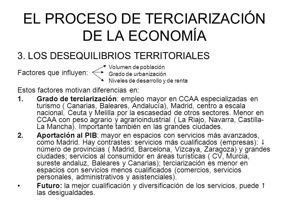 EL PROCESO DE TERCIARIZACIÓN DE LA ECONOMÍA 3.