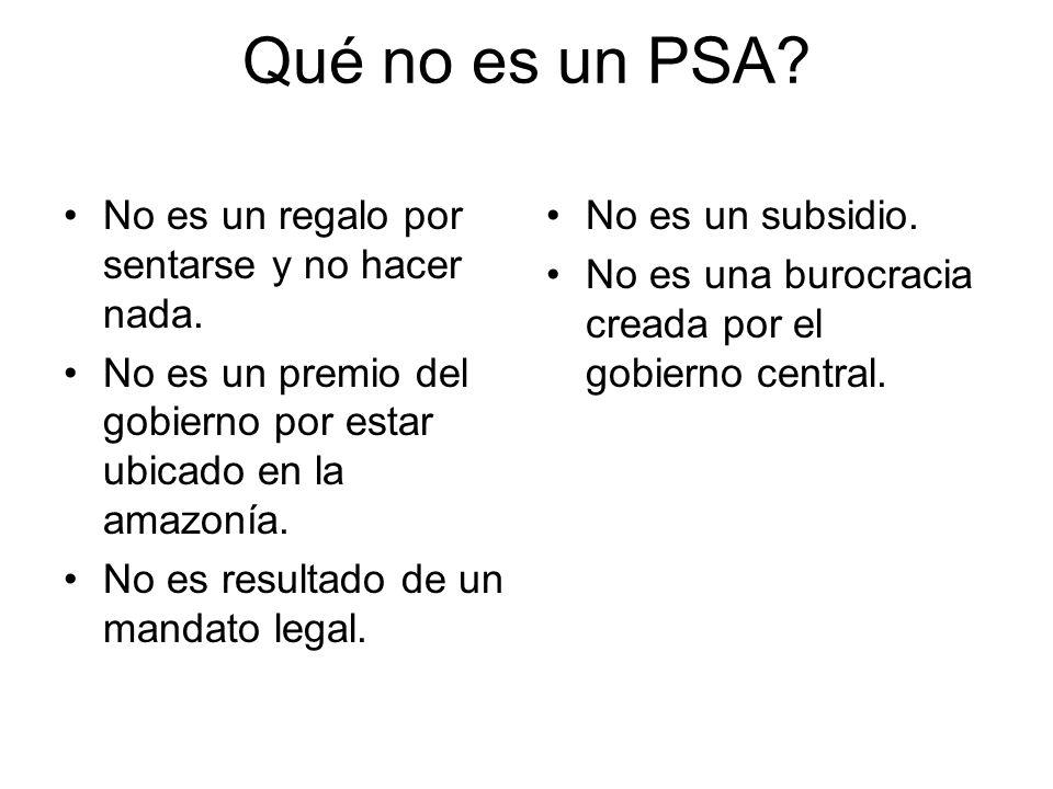 PSA: sustento final de las actividades económicas del Perú Formación de suelos, ciclo de nutrientes, termo- regulación, habitat de especies, recreación ….